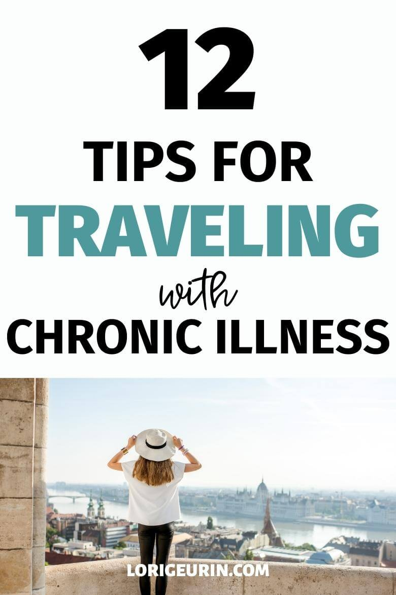 traveling with chronic illness / woman on vacation