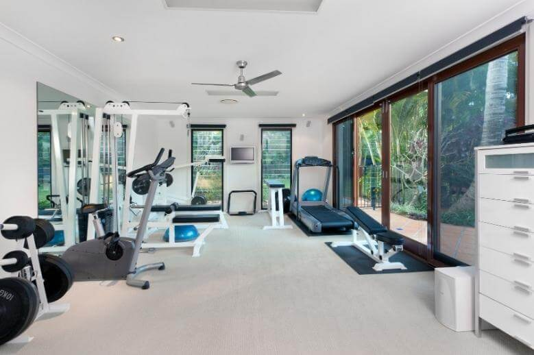 a home fitness room