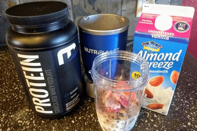 protein shake ingredients and nutribullet
