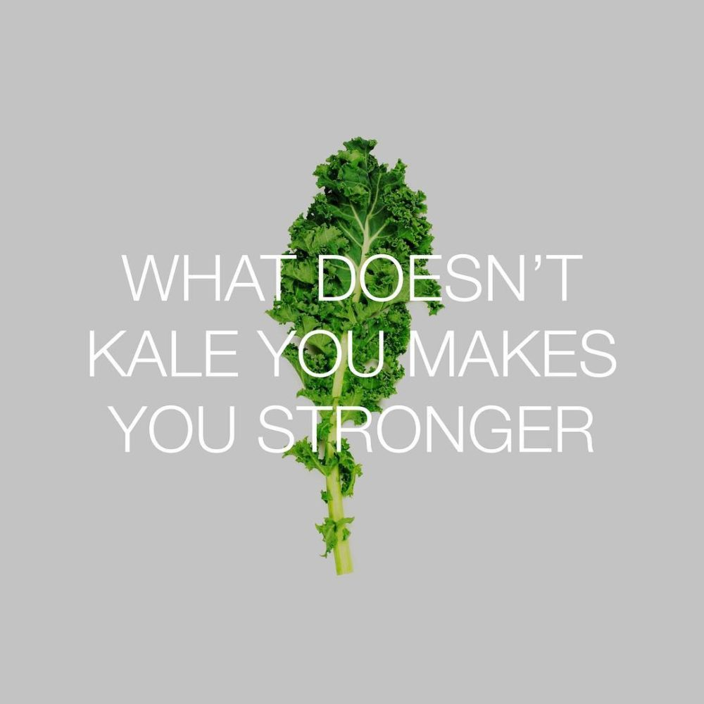 kale meme and text overlay