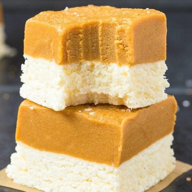 healthy no-bake peanut butter coconut crack bars