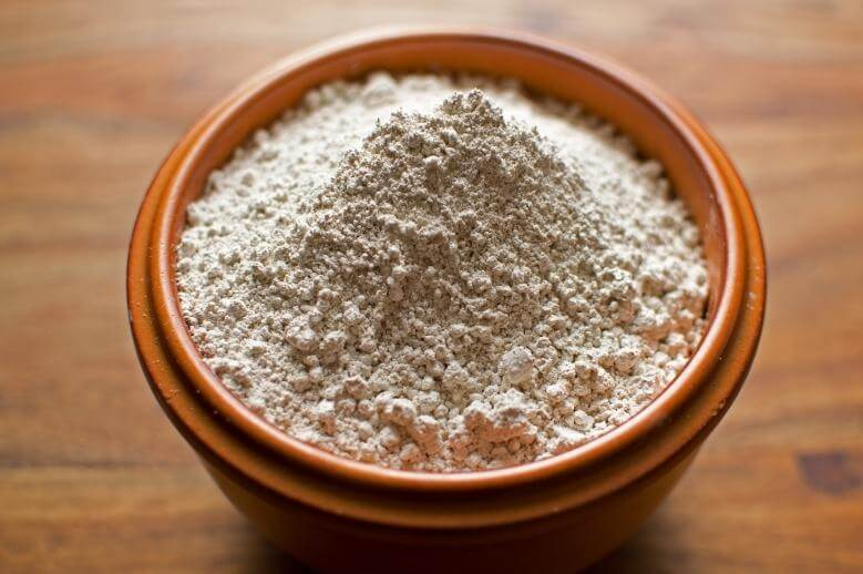 diatomaceous earth in a bowl