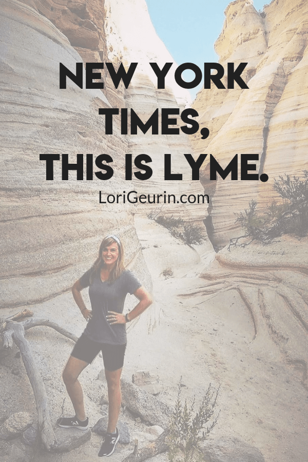 """This article was written in response to an inaccurate New York Times piece that claimed being diagnosed with lyme is """"great news""""."""