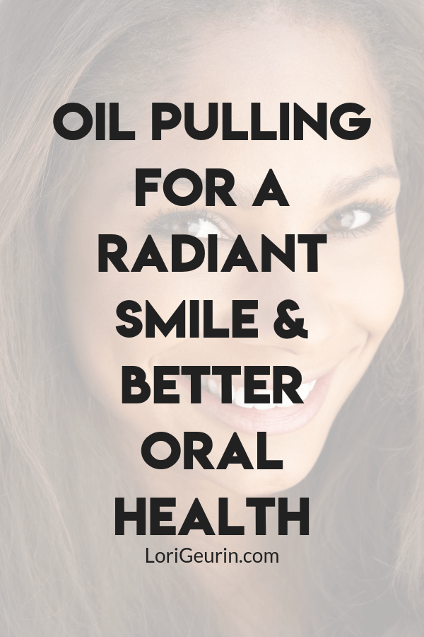 Oil pulling is an excellent way to give your oral health a makeover. The benefits include whiter teeth, fresh breath and more.  #oilpulling #oralhealth #wellness