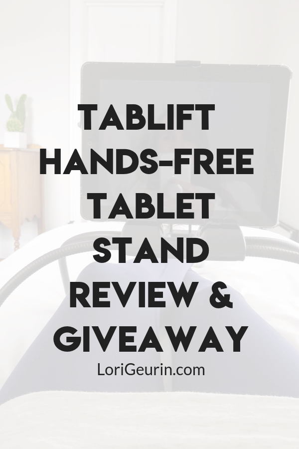 This is a Tablift tablet stand review and giveaway. The Tablift hands-free tablet stand can help you watch videos and read more comfortably.