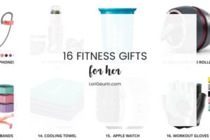 text overlay with fitness gift ideas for women