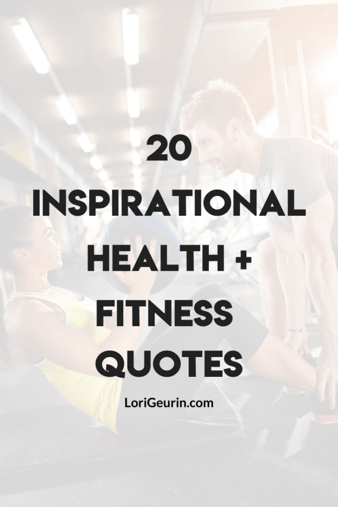 health and fitness quotes / a woman working out at the gym smiling
