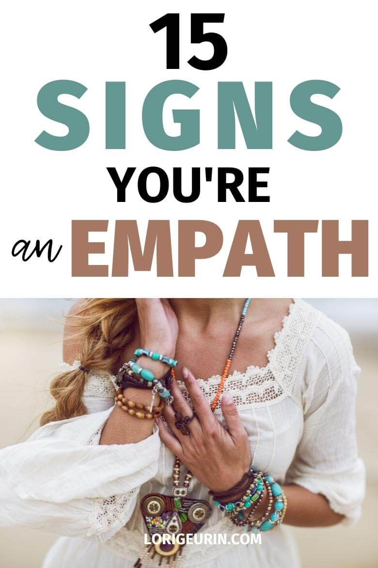 empath traits / woman in boho style
