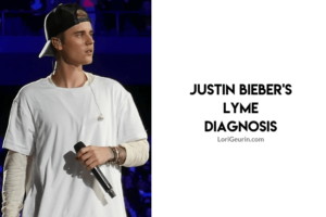 Justin Bieber has Lyme disease / JB holding a microphone