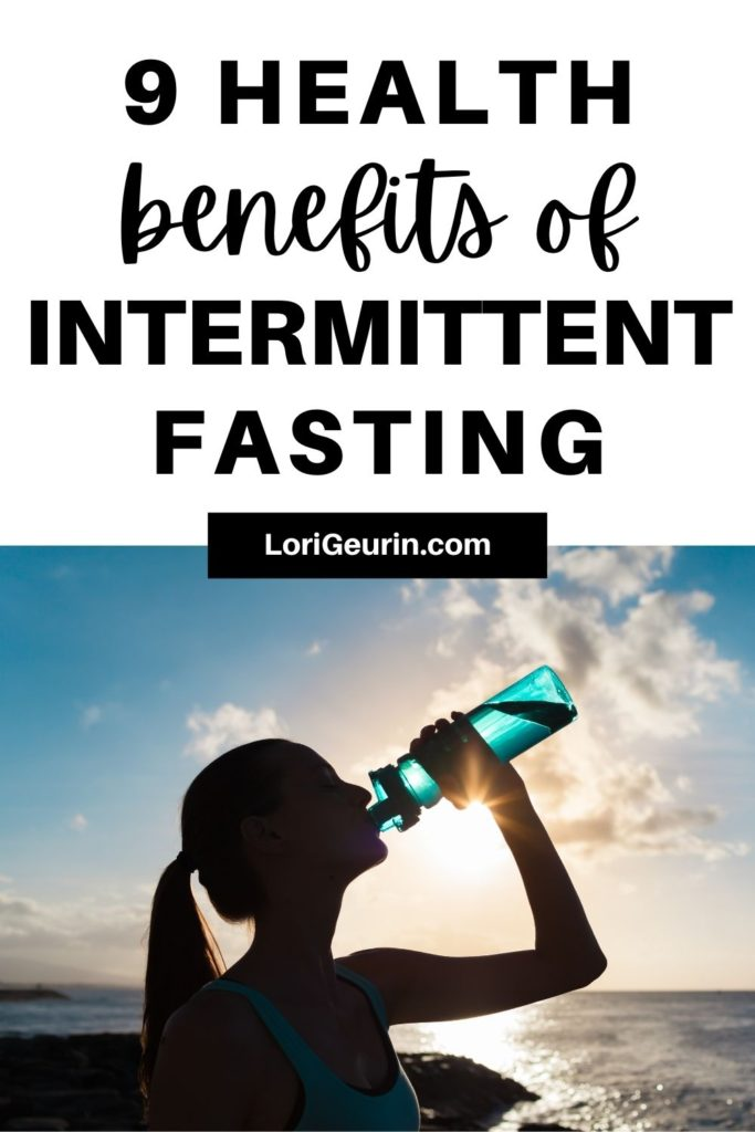 benefits of intermittent fasting / woman drinking water