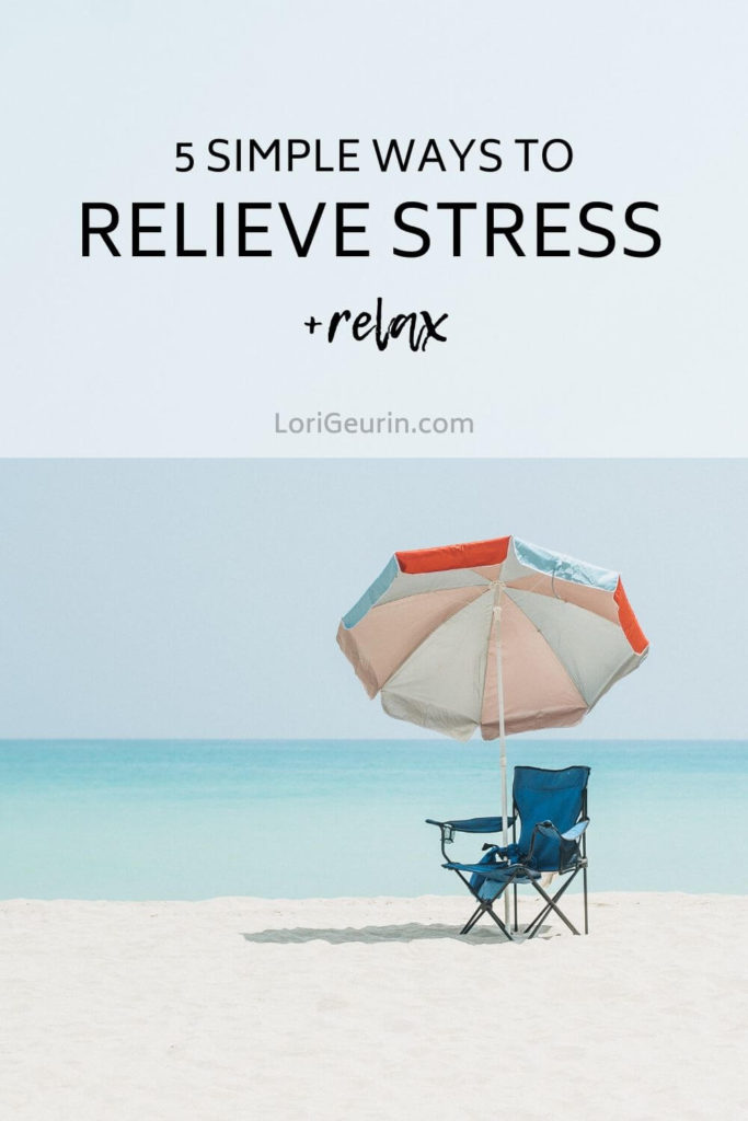 Stress is all too common in our fast-paced modern-day world. This article gives you 5 simple ways to relieve stress and relax naturally.