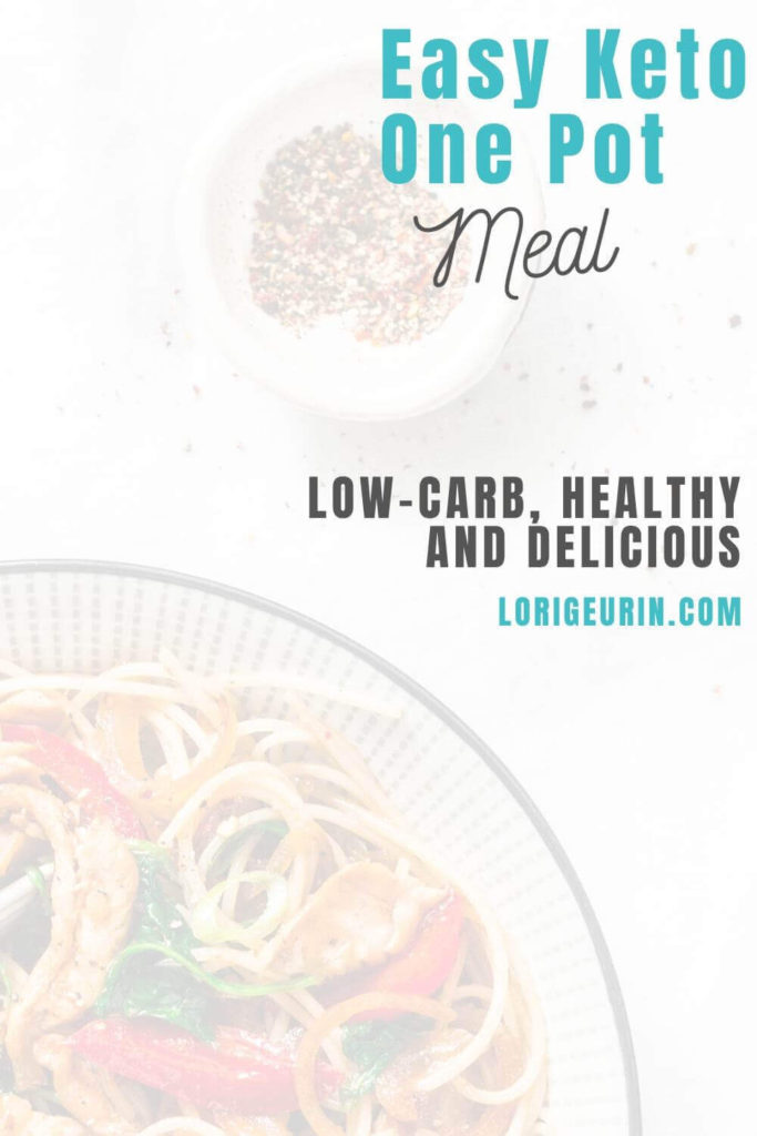 Here's an easy low carb keto one pot meal recipe. Full of antioxidant-rich veggies & ground beef, this easy stir fry is healthy & delicious.
