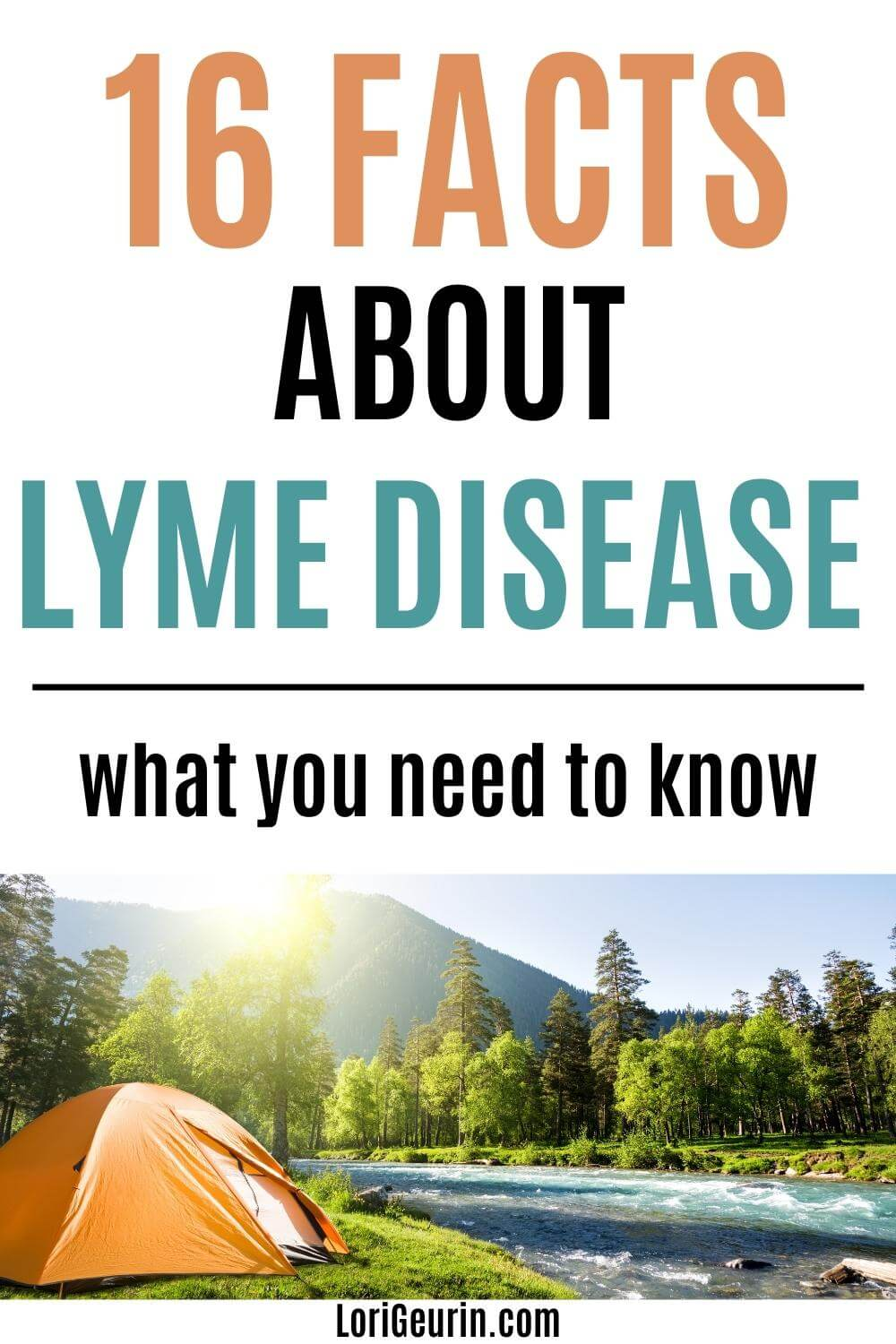 Lyme disease / tent and a river