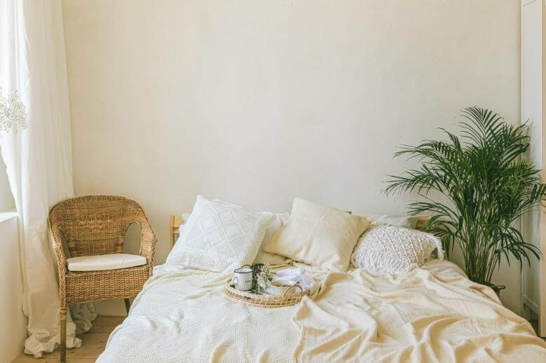 3 stages of lyme disease / a boho bedroom where someone has been sleeping