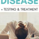 woman sick with lyme disease at her desk