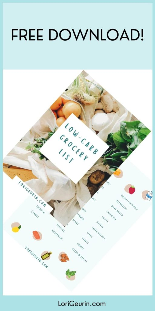 ways to cut carbs / free printable low carb shopping list