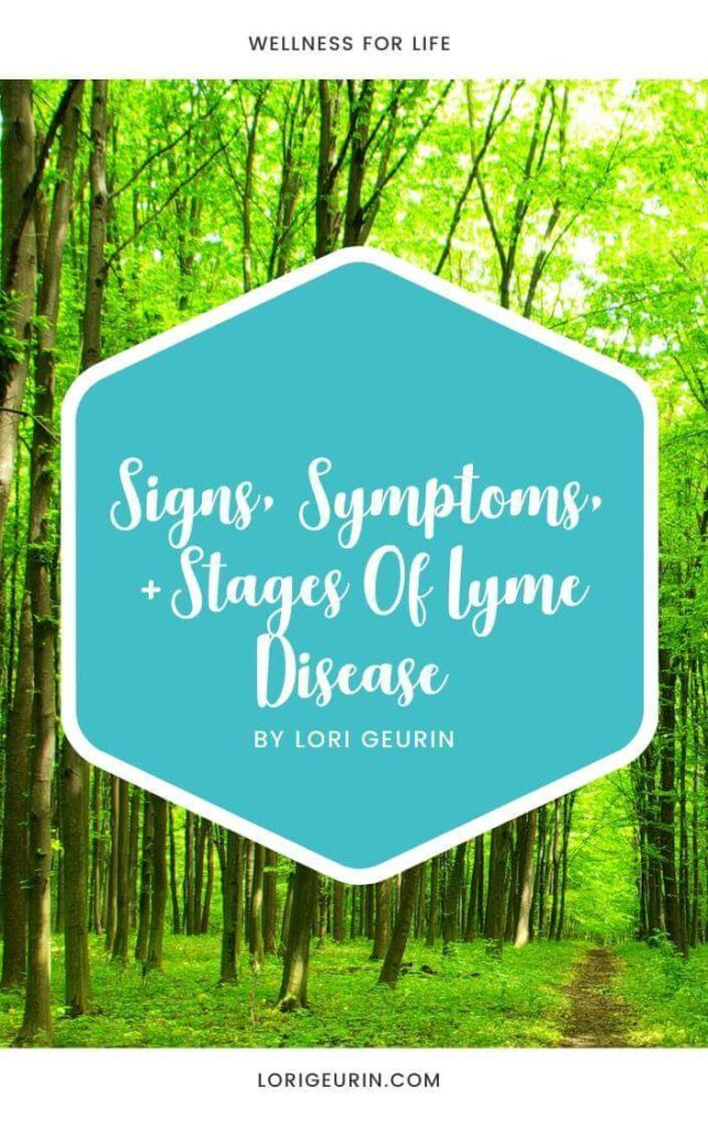 signs symptoms and stages of Lyme disease book cover