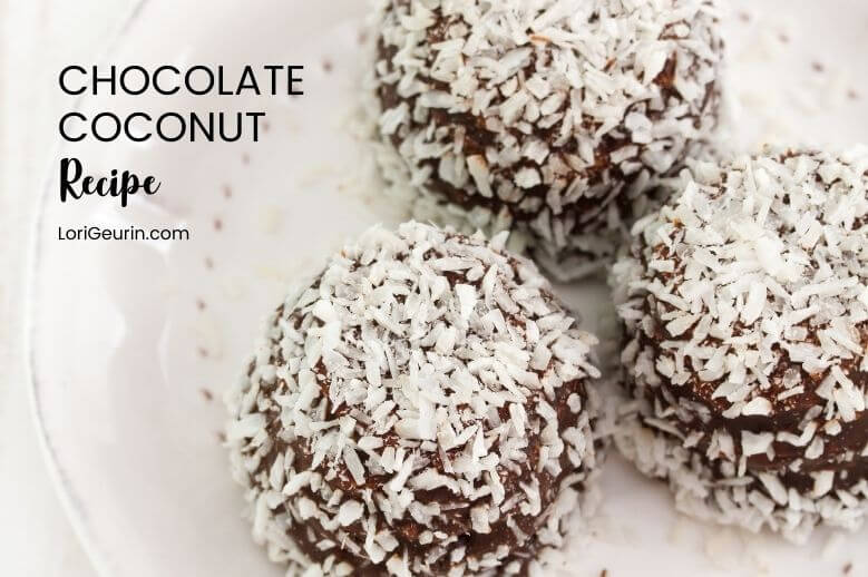 Here's a recipe for Chocolate Coconut Energy Balls, which are packed with protein, very nutritious, easy to make, & a great on the go snack.