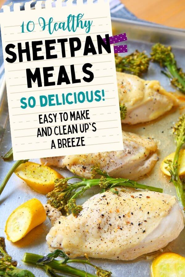 chicken sheet pan dinner with vegetables