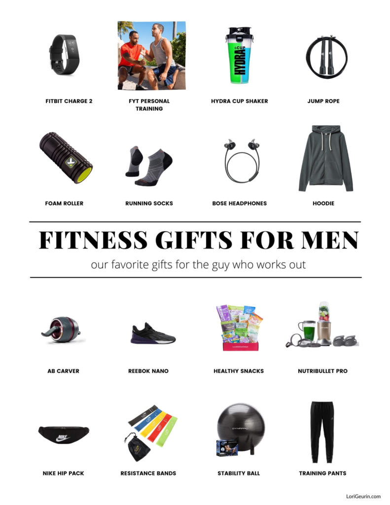 Here are 16 great fitness gifts for guys to help you find that perfect gift for the man who loves to work out and get fit.