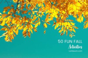 fun fall activities - yellow leaves on a tree and a blue sky