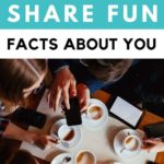 fun facts about yourself examples - people drinking coffee on their cell phones