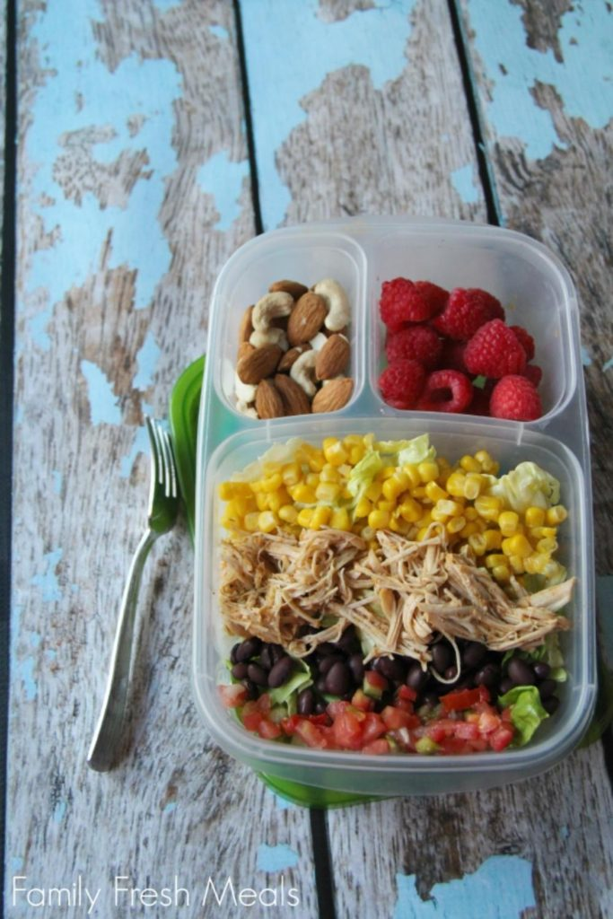healthy lunch ideas: cool ranch chicken salad lunch