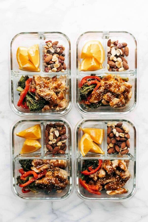 healthy lunch ideas: garlic ginger chicken and broccoli