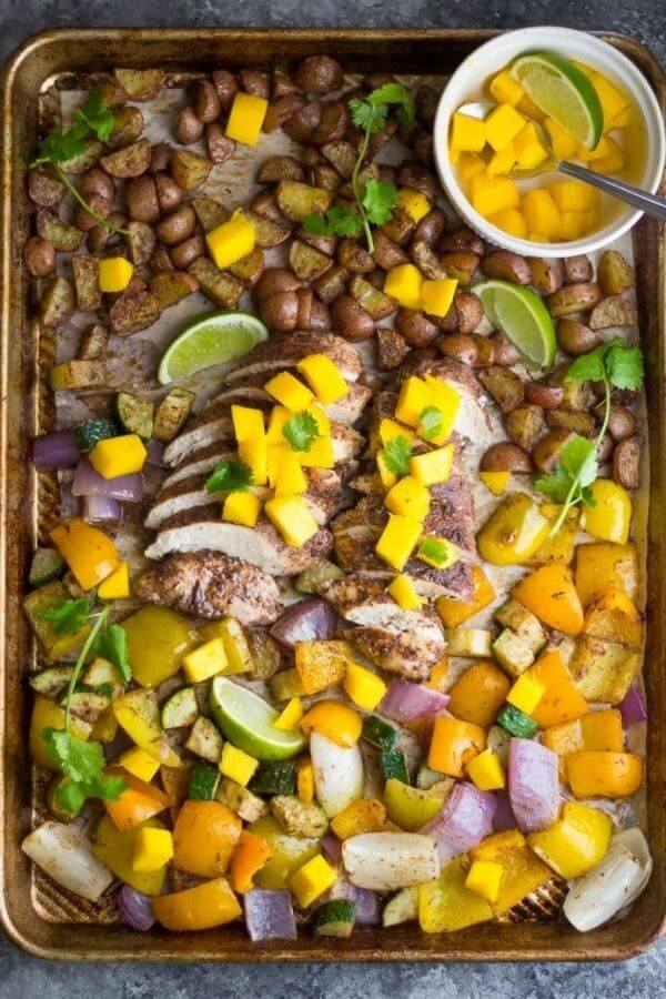 Looking for quick dinner ideas? Here are 15 healthy sheet pan meals that are delicious, and fast, and easy to prep and cleanup.