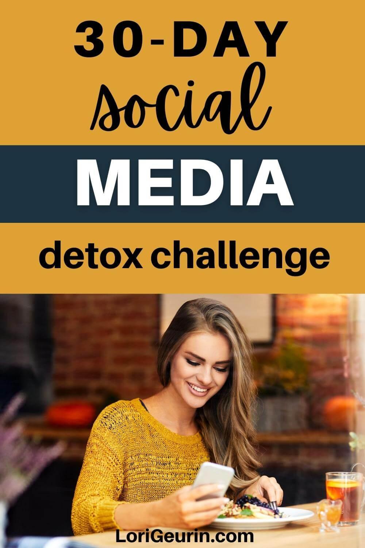 social media detox / woman on her cellphone
