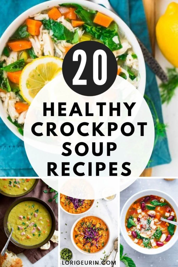 bowls of healthy soup with vegetables, meat, herbs, and spices