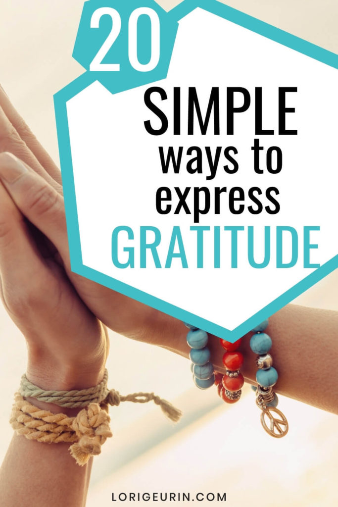 simple ways to express gratitude and praying hands with boho bracelets in bright colors
