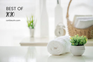 health and wellness articles and spa white towel with green plants