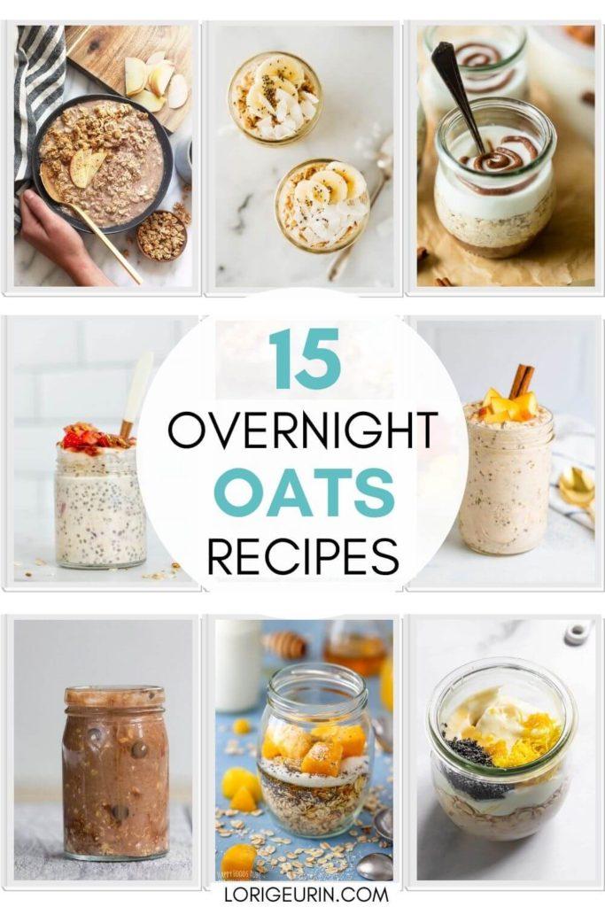 easy overnight oats recipes / jars of overnight oats
