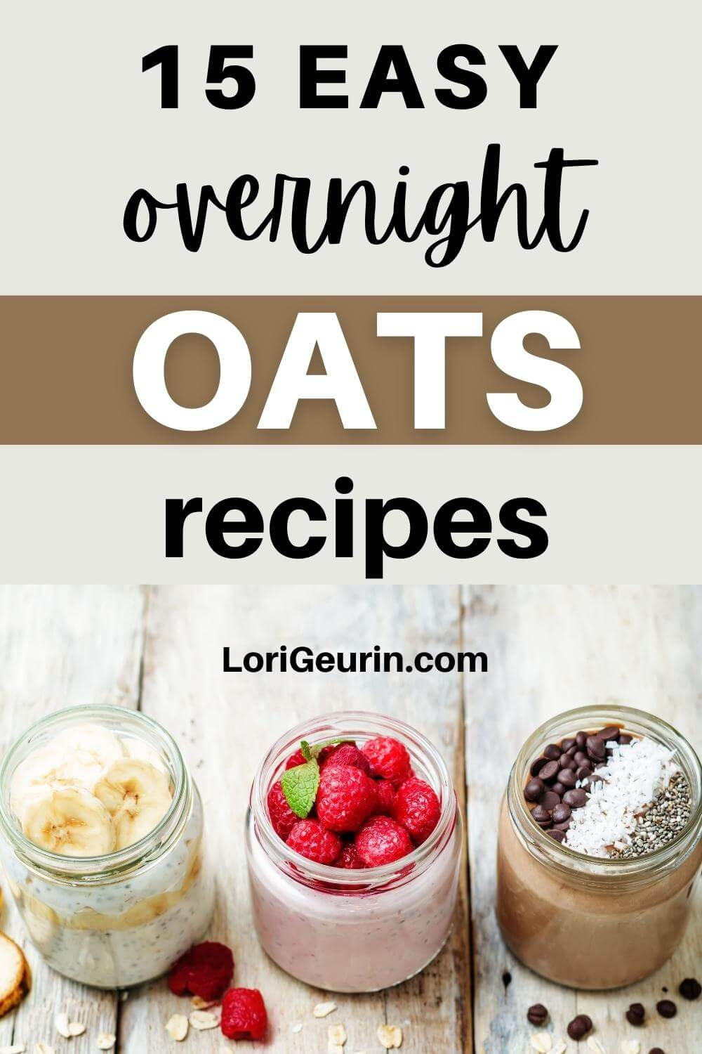 health overnight oats with nuts and berries