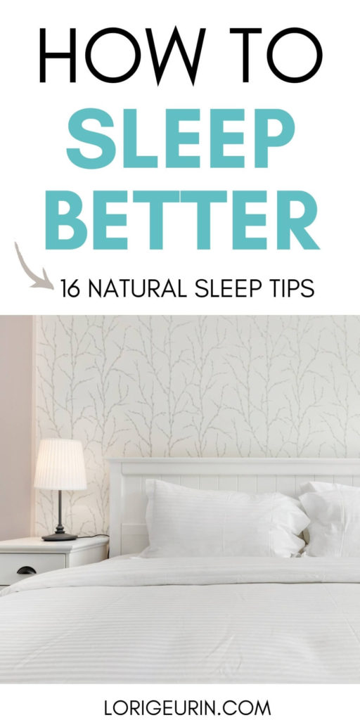 how to sleep better / bed and nightstand with lamp