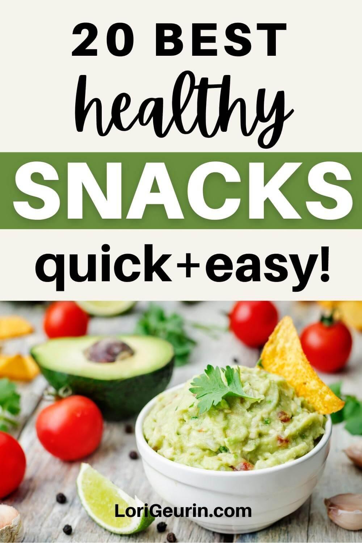 best healthy snacks / guacamole