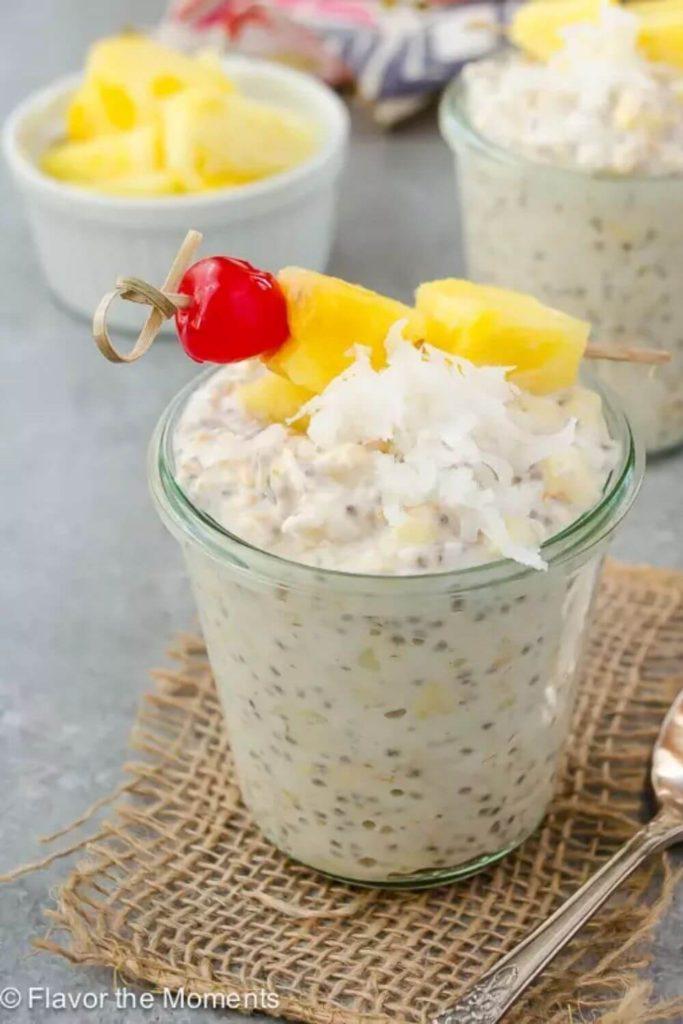 pina colada chia overnight oats