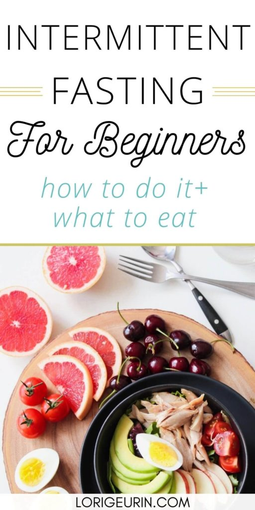 intermittent fasting tips for beginners / plate of healthy food with meat, fruit, and vegetables