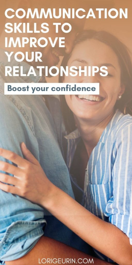 ways to improve communication skills /   a married couple smiling and hugging