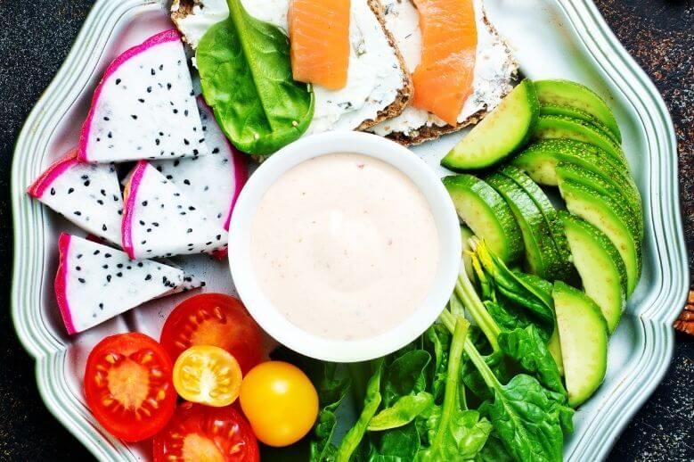 a buddha bowl of healthy food