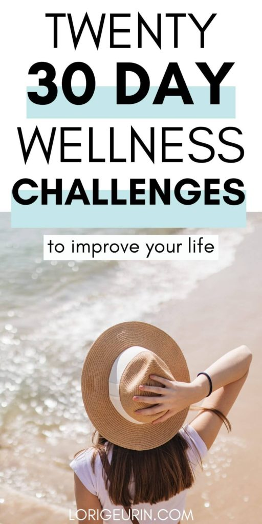 health and wellness challenges for a better life / a lady at the beach in a straw hat on a sunny day