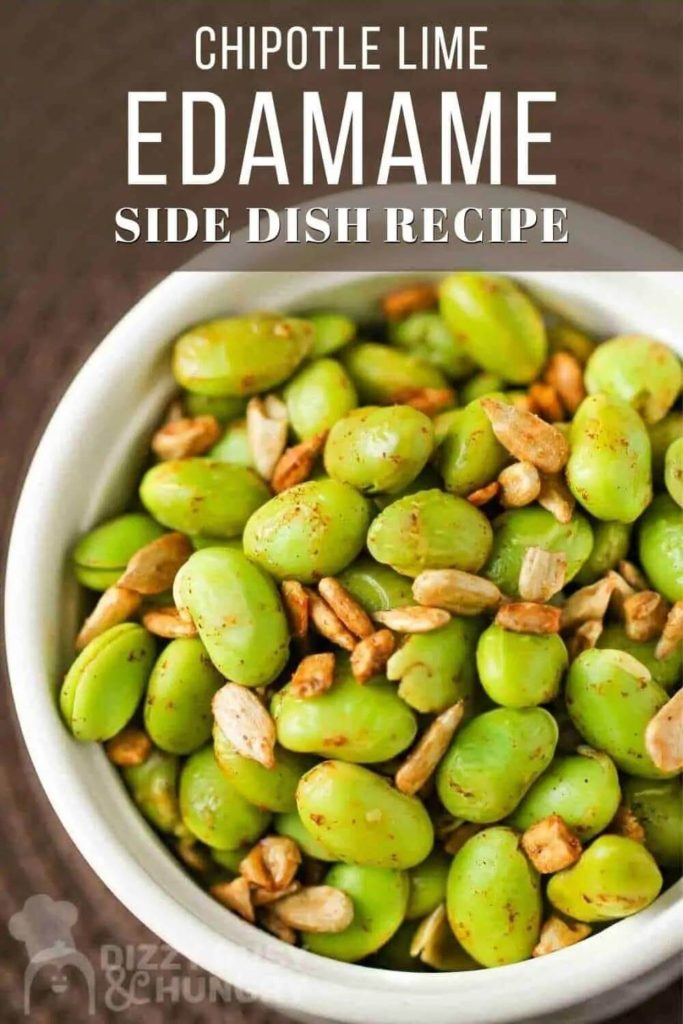 high protein snack recipes / chipotle lime edamame