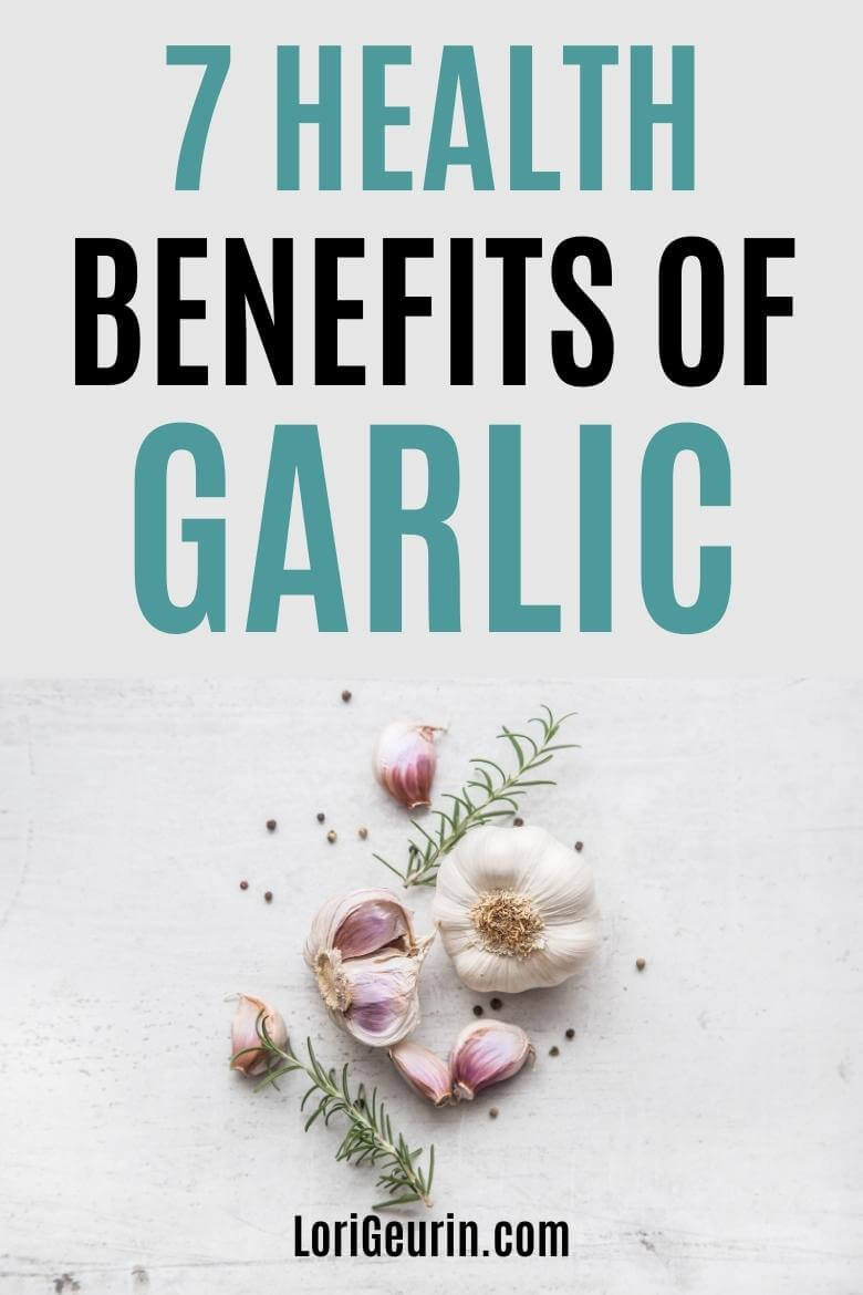 garlic cloves on a white table