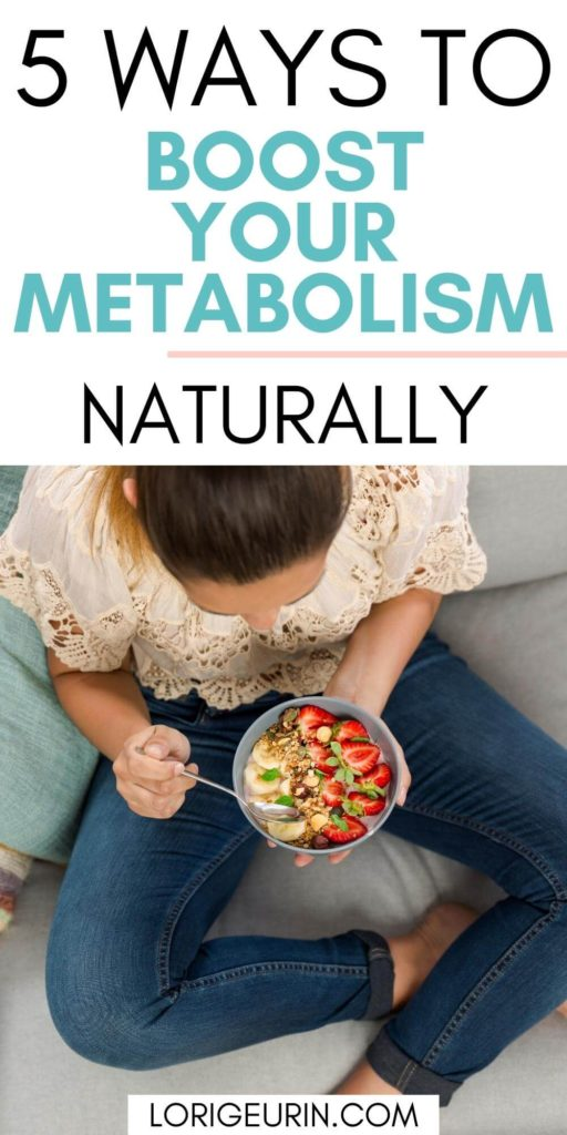boost metabolism naturally / woman eating a bowl of strawberries