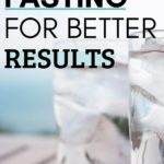 clean fasting with ice water on a picnic table outside in