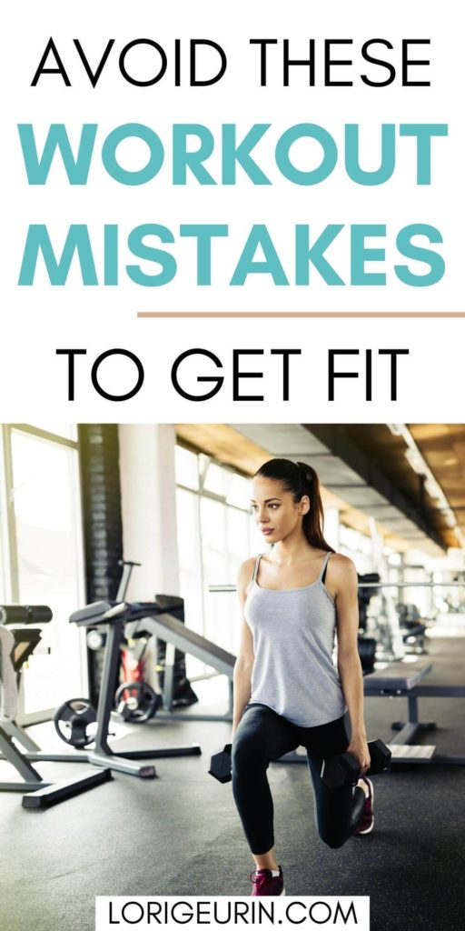 workout mistakes to avoid / a woman lifting weights in a gym