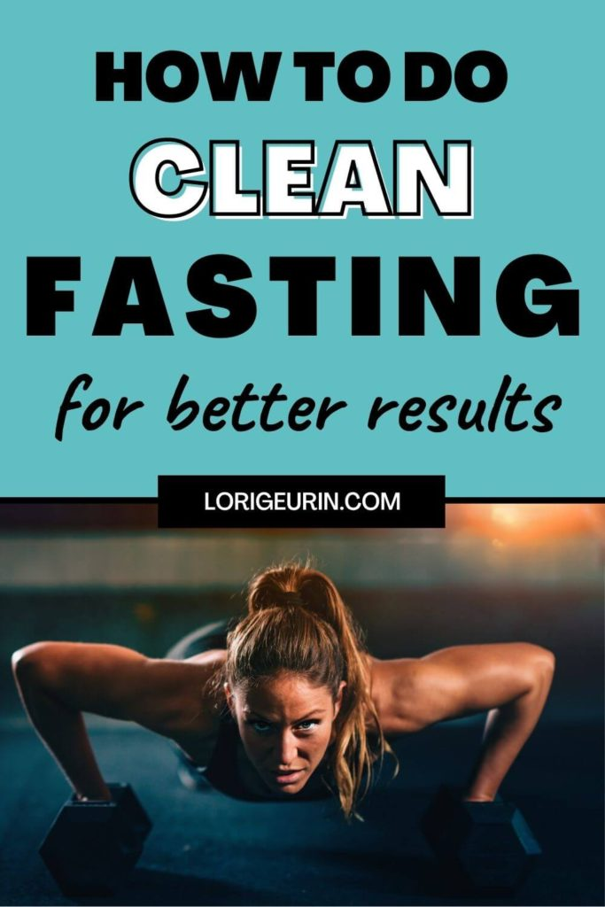 clean fasting / woman doing pushups