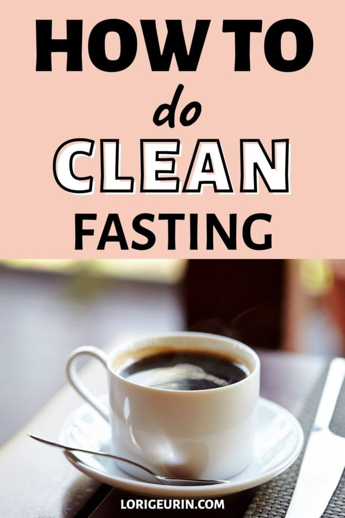 clean fasting with black coffee