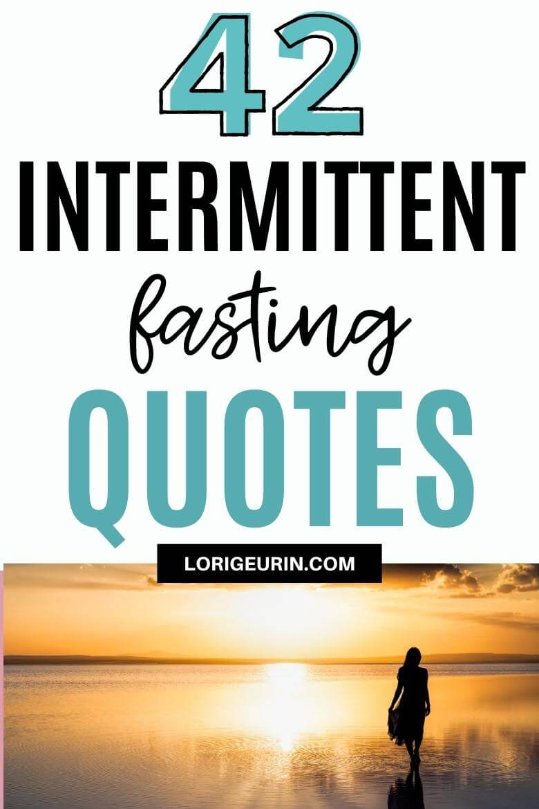 intermittent fasting quotes / woman walking on beach